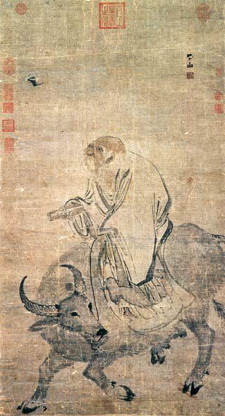 Zhang-Lu Лао Цзы на быке. Чжан Лу