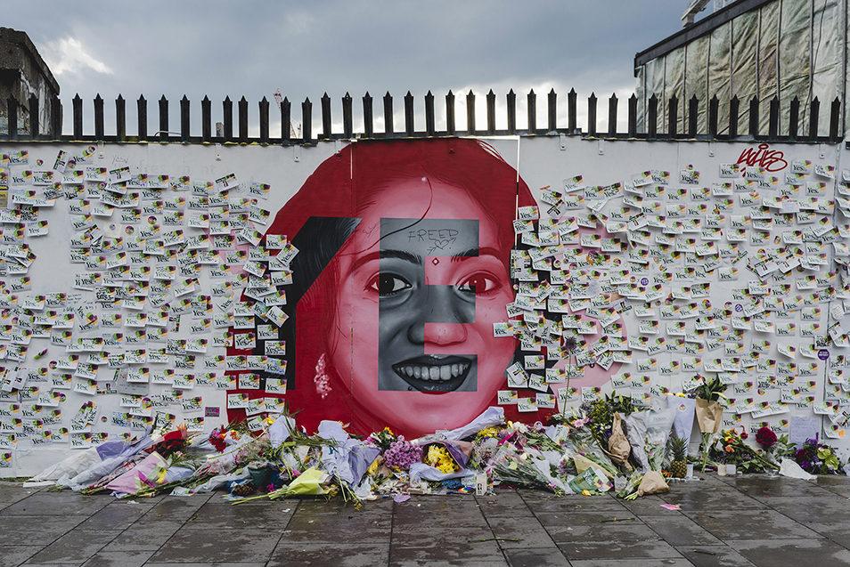 Уличный портрет Савиты Хальппанавар был нарисован в центре Дублина в день ирландского референдума. В течении последующих