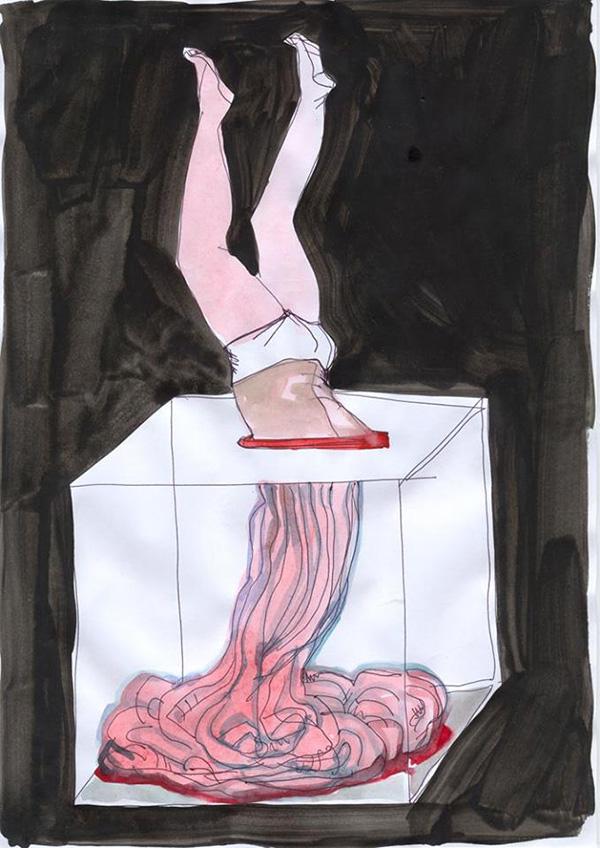 Влада Ралко, из серии Киевский Дневник, 2013-2015. Гуашь на бумаге. Предоставлено художницей.