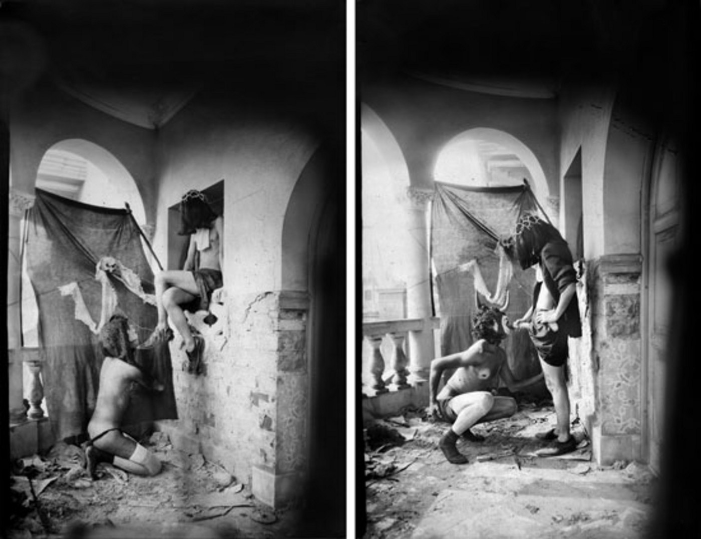Серджио Зеваллос (Grupo Chaclacayo), Ambulantes, из серии Suburbios, 1984.Предоставлено Серджио Зеваллосом