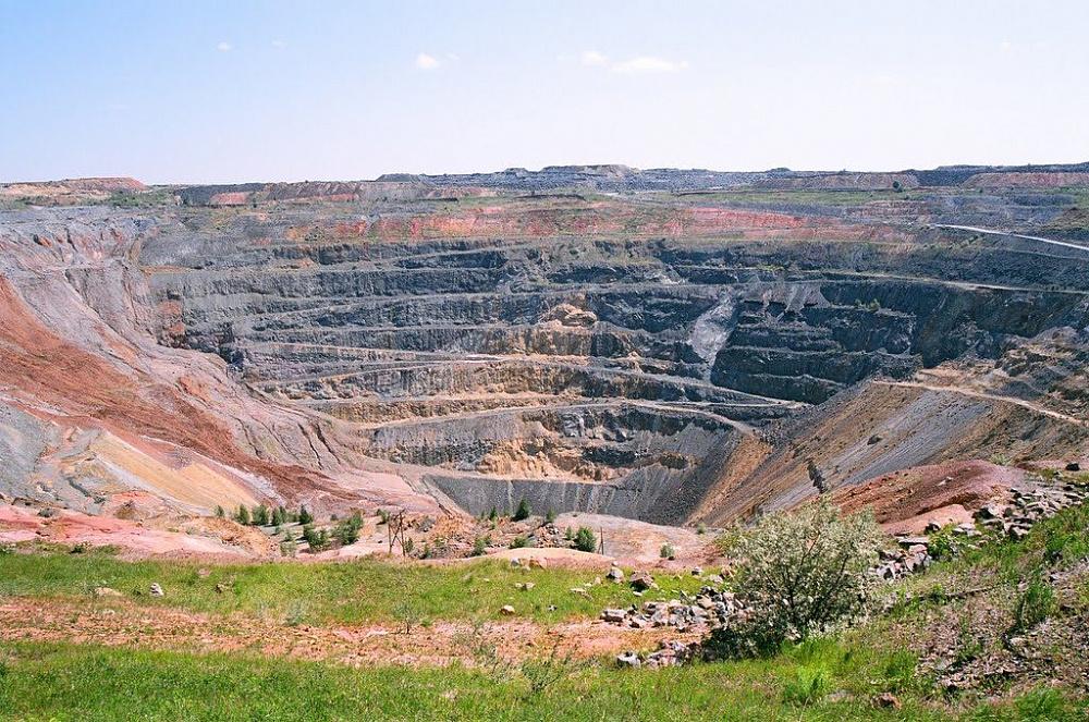 Гайское месторождение цинка в Оренбургской области. Принадлежит Уральской горно-металлургической компании. Фото: Главгосэ