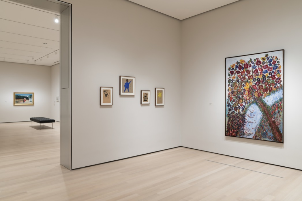 """MoMA.Installation view of the gallery """"Masters of Popular Painting"""" in the exhibition """"Collection 1880s-1940s"""""""