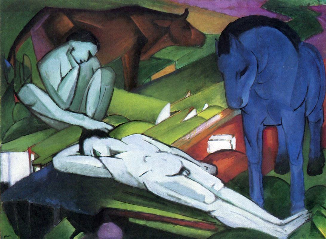 «Пастухи». Франц Марк. 1912