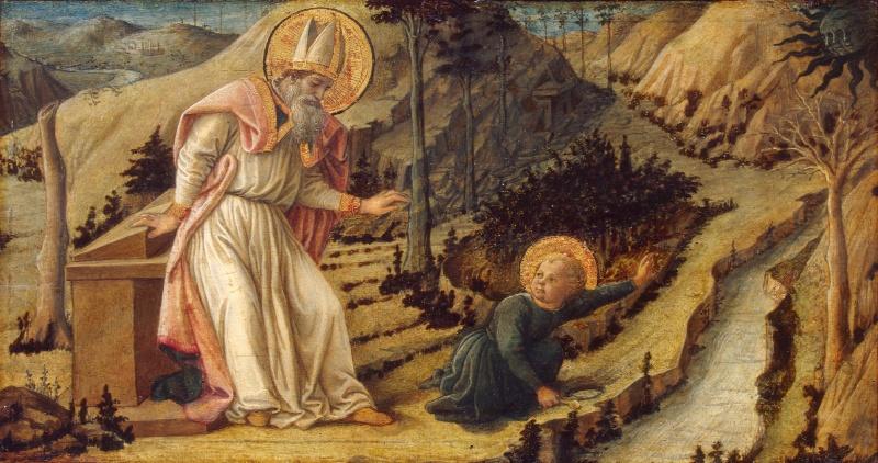 Фра Филлипо Липпи. «Видение св. Августина».Эрмитаж, ок. 1460 года
