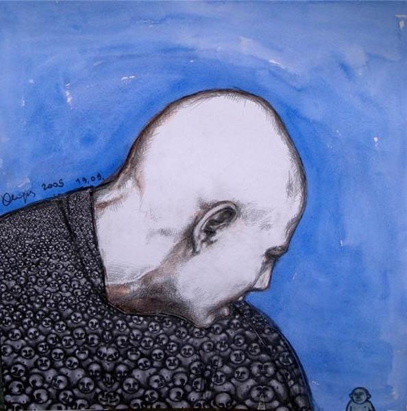 """Заратустра и """"последний человек"""", 2009. Работы из этой серии делались для научной конференции по Ницше в Падуе, профессо"""