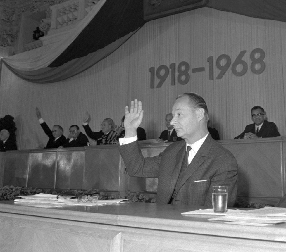 Лидер «Пражской весны» Александр Дубчек