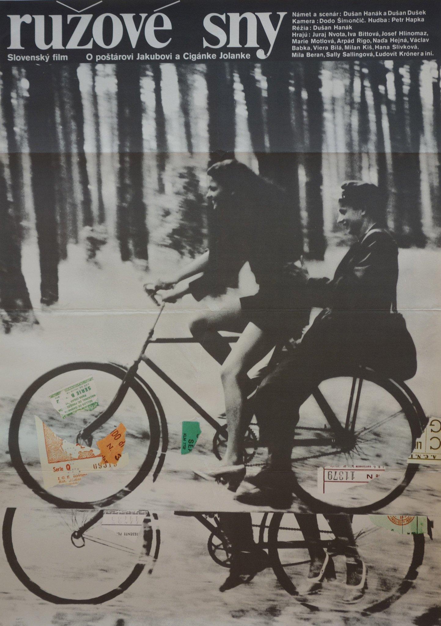 Розовые сны - Душан Ганак, 1976. Постер Милана Грыгара