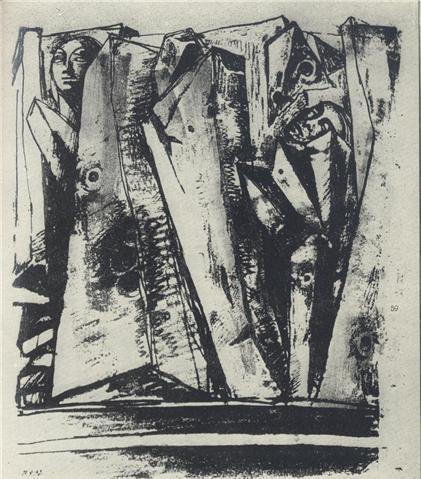 Фрагмент проекта мемориала жертвам Бабьего Яра, 1965 г., А. Рыбачук, В. Мельниченко