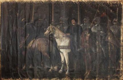 Жозеф Альфред Белле дю Пуаза Мартин Лютер и рыцари Фридриха Саксонского 26 мая 1521 года Франция, 1867 г. Холст, масло. 2