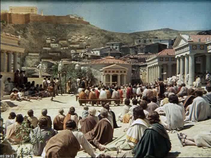 Сократ (1971, реж. Р. Росселини. Италия, Испания, Франция)