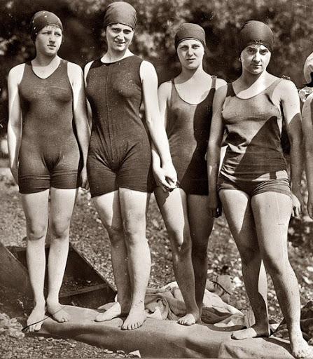 Figure 2.2: Development of the women swimming costume, the 1890s-2010s