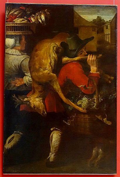 Снейдерс, Франс, мастерская. Возвращение с рынка. Первая половина XVII века. Холст, масло. 185×120 см. Дворец изящных иск