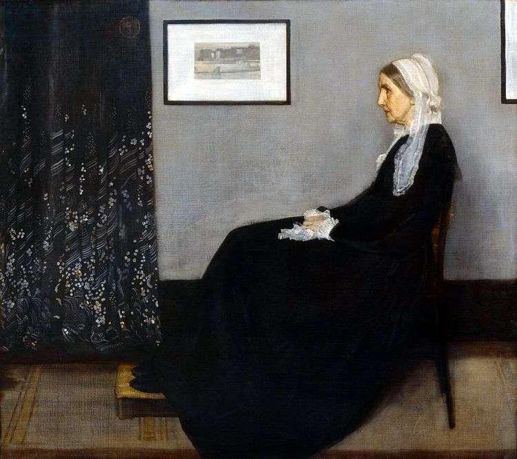 """""""Аранжировка в сером и черном. Мать Уистлера"""" Дж Уистлер, 1871"""