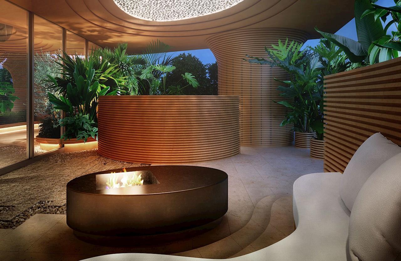 Дизайн интерьера вThe Court Jingugaien от Ferrari