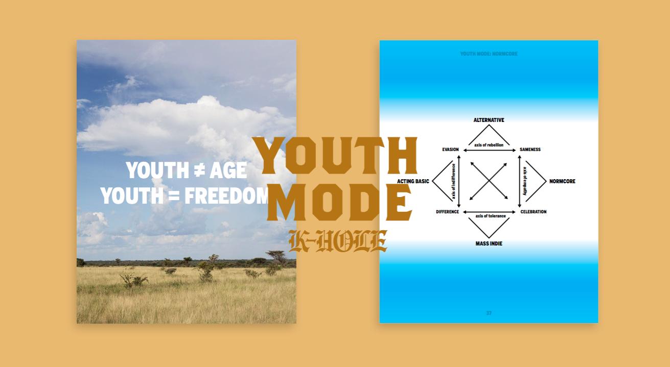 Обложка отчета Youth Mode, который задал параметры употребимости понятия «нормкор»