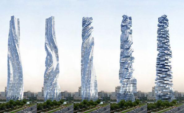 Проект вращающегося небоскреба для Дубаи. Дэвид Фишер