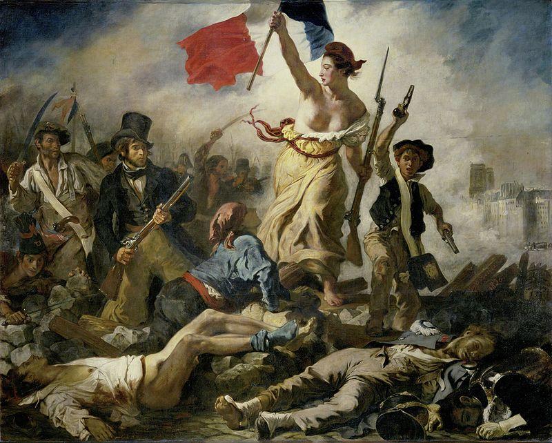 Эжен Делакруа. «Свобода, ведущая народ». 1830