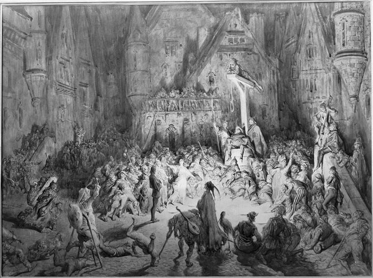 Гюстав Доре. «Двор чудес». ок. 1860