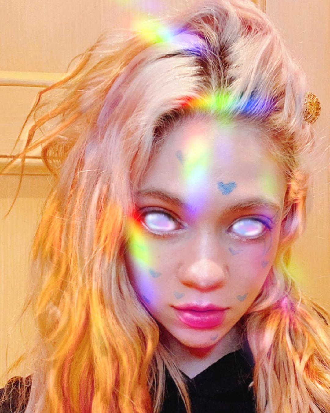"Grimes. ""The flesh is weak."" April 10, 2020.https://instagram.com/grimes/"