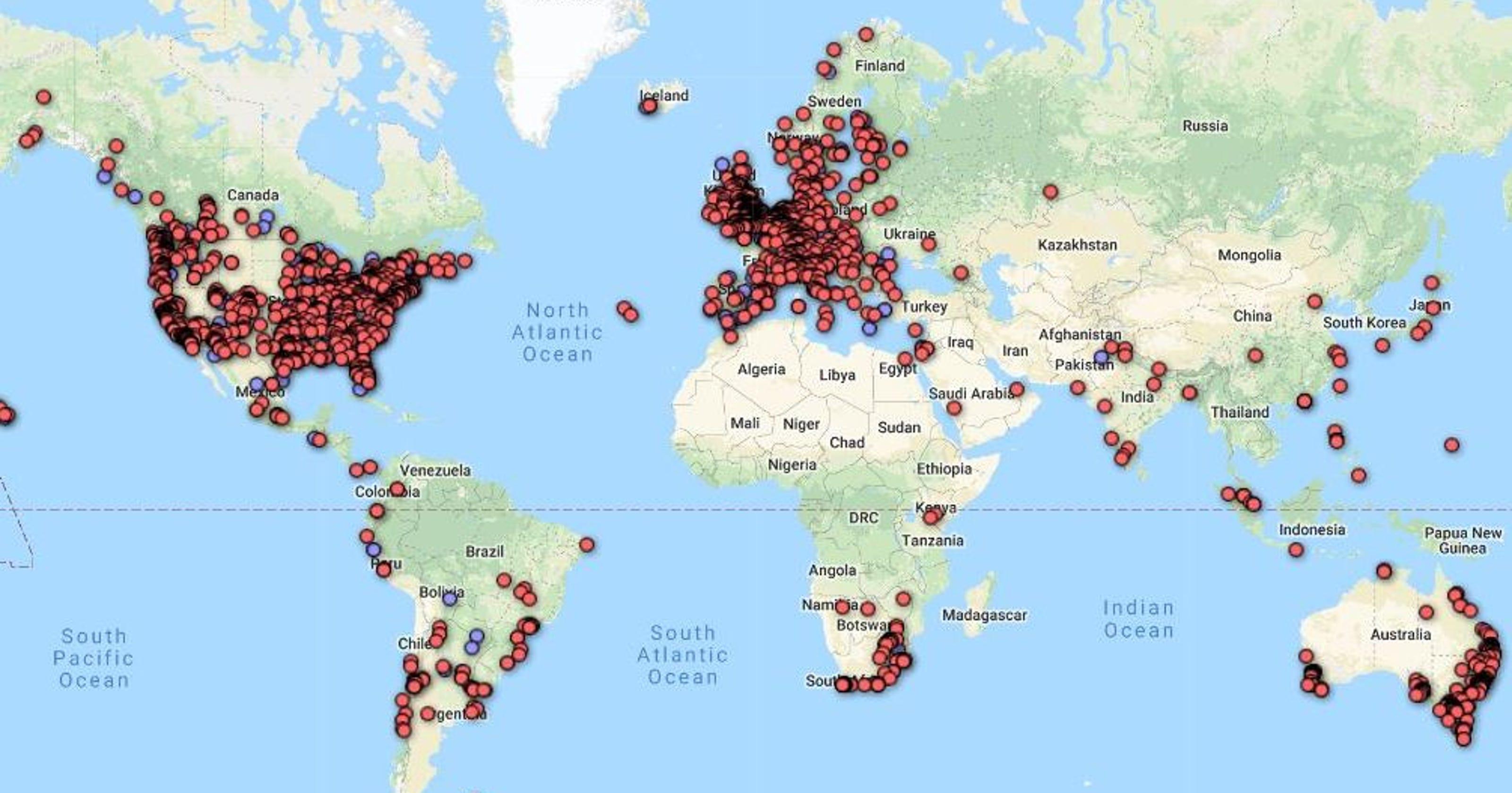 Карта из пользовательской базы данных Гула Земли