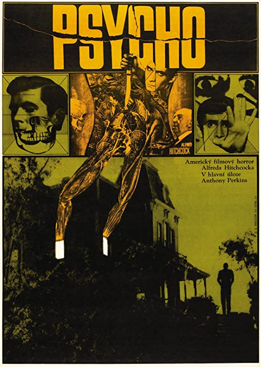 Плакат к фильму «Психо» (Чехословакия)