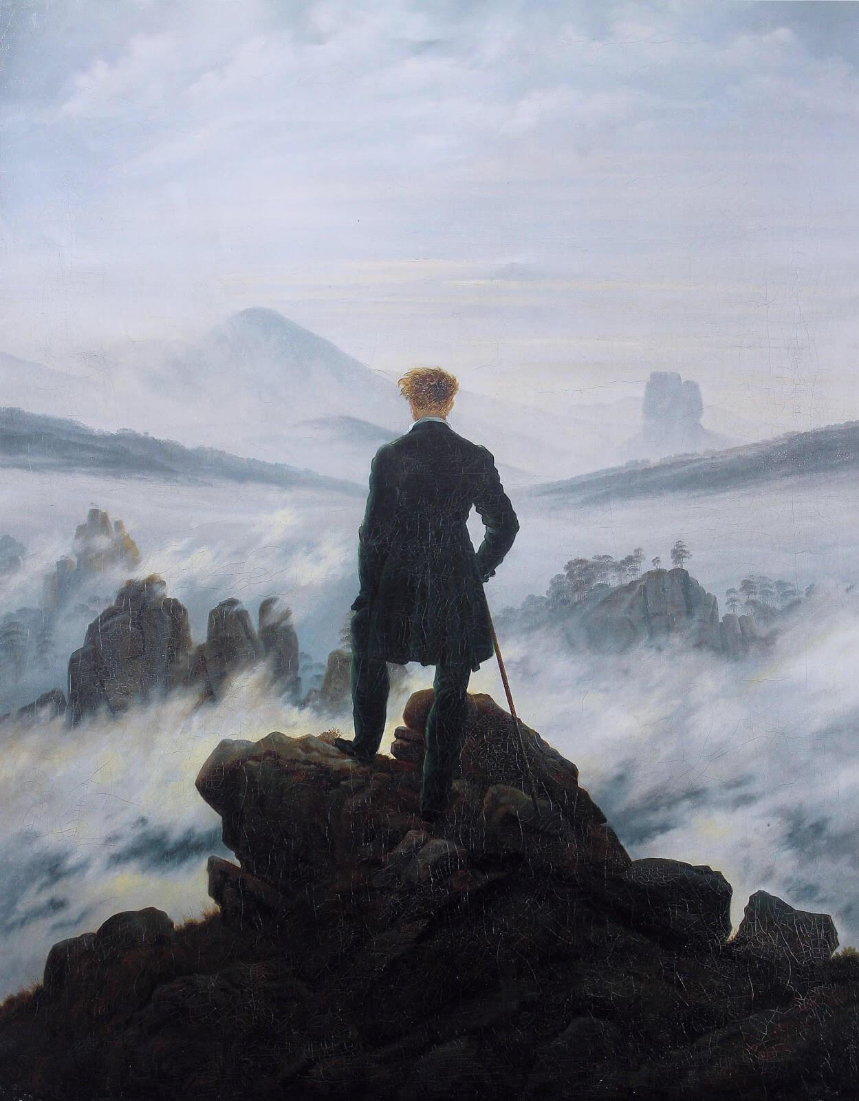 Каспар Давид Фридрих. Странник над морем тумана. 1818