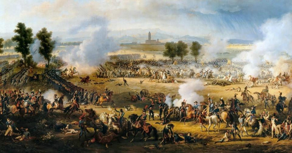 Французская армия под командованием Наполеона побеждает австрийские войска в битве при Маренго в 1800 году