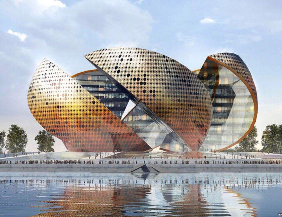 Нормана Фостера. Проект комплекса «Апельсин» на месте ЦДХ, Москва © Московская перспектива