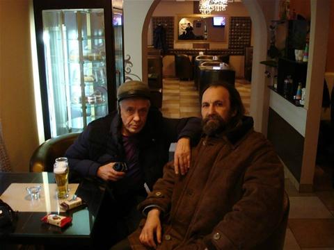 Светослав Чернобай (слева) и Владислав Квитковский (справа). 2010. СПб.