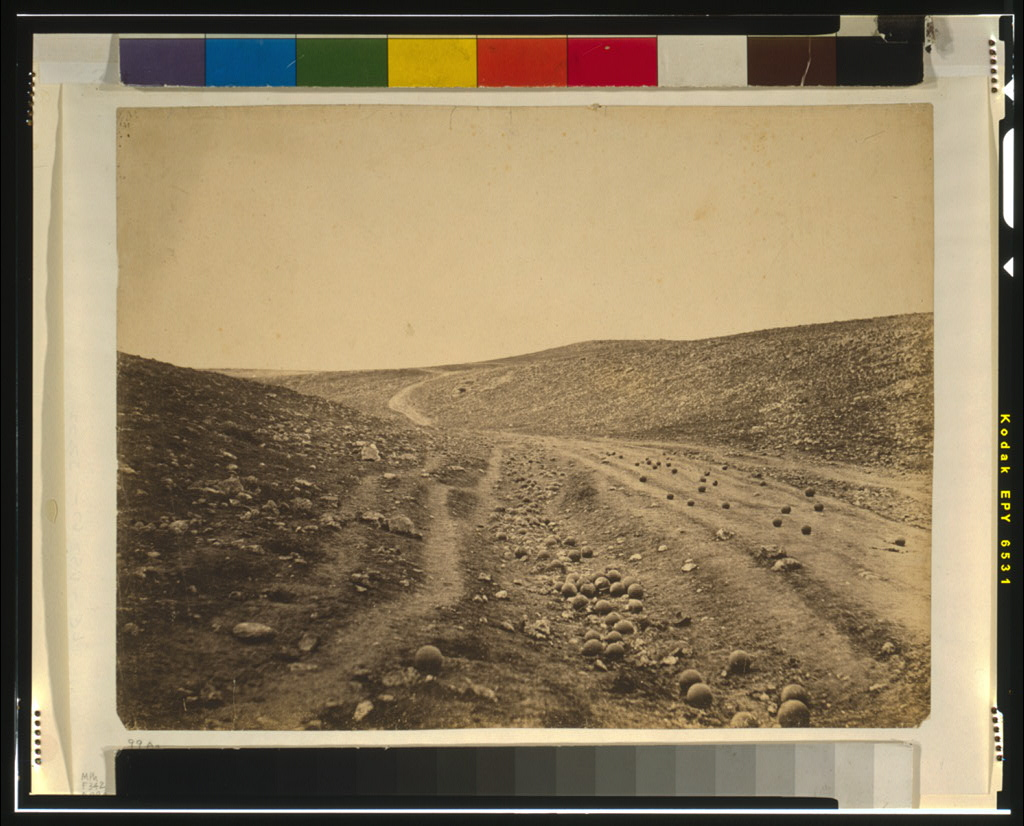 Roger Fenton. Valley of the Shadow of Death. Library of Congress.
