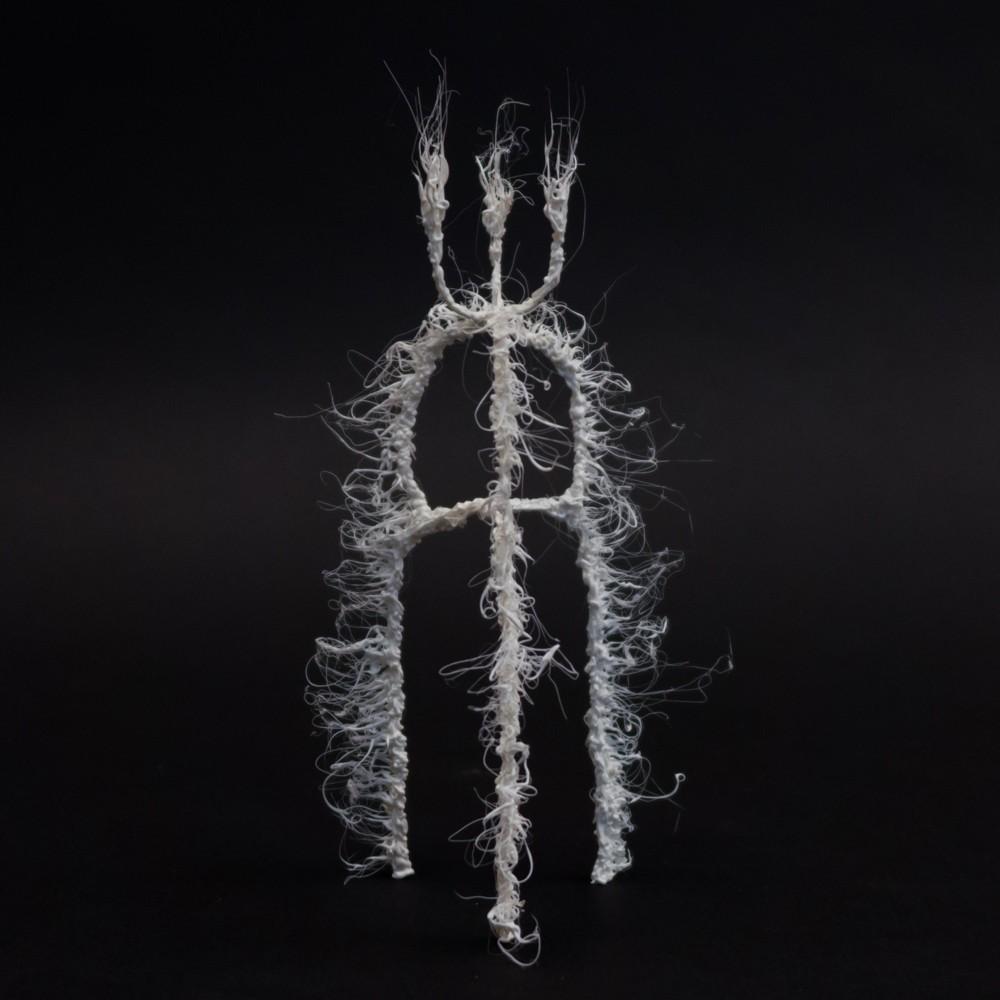 Объект серии LIFEFORMS, 2017-2018. 3D pen, PLA plastic.