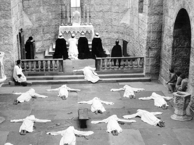 Сцена из фильма Ежи Кавалеровича«Мать Иоанна от Ангелов» (1960)