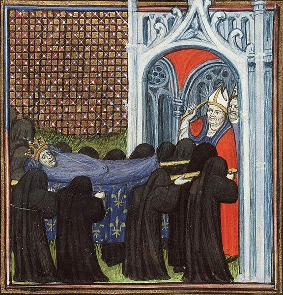 Virgil Master. Похоронная процессия короля Иоанна II. 1410.