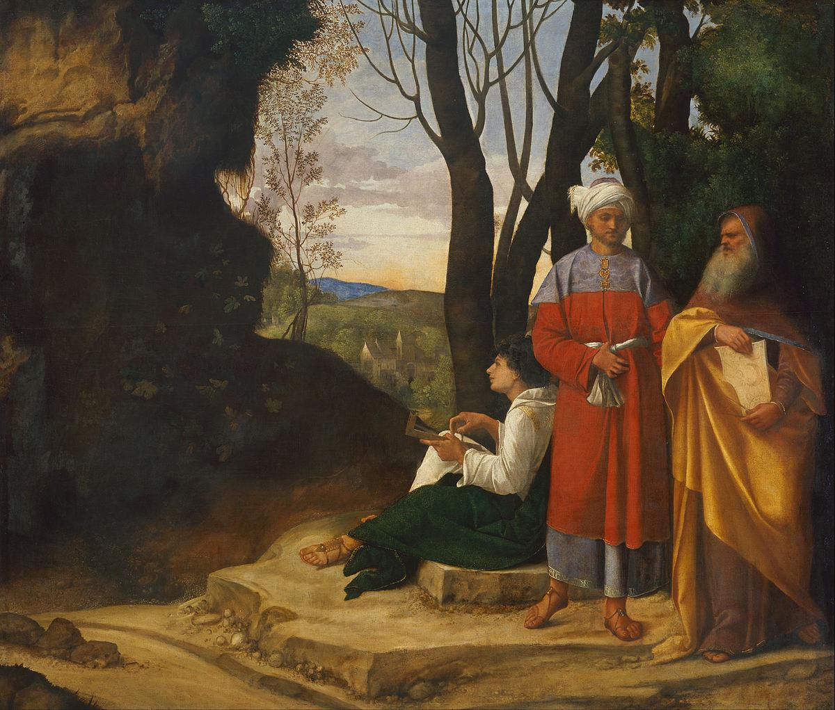 "Джорджоне, ""Три философа"", 1509 г."