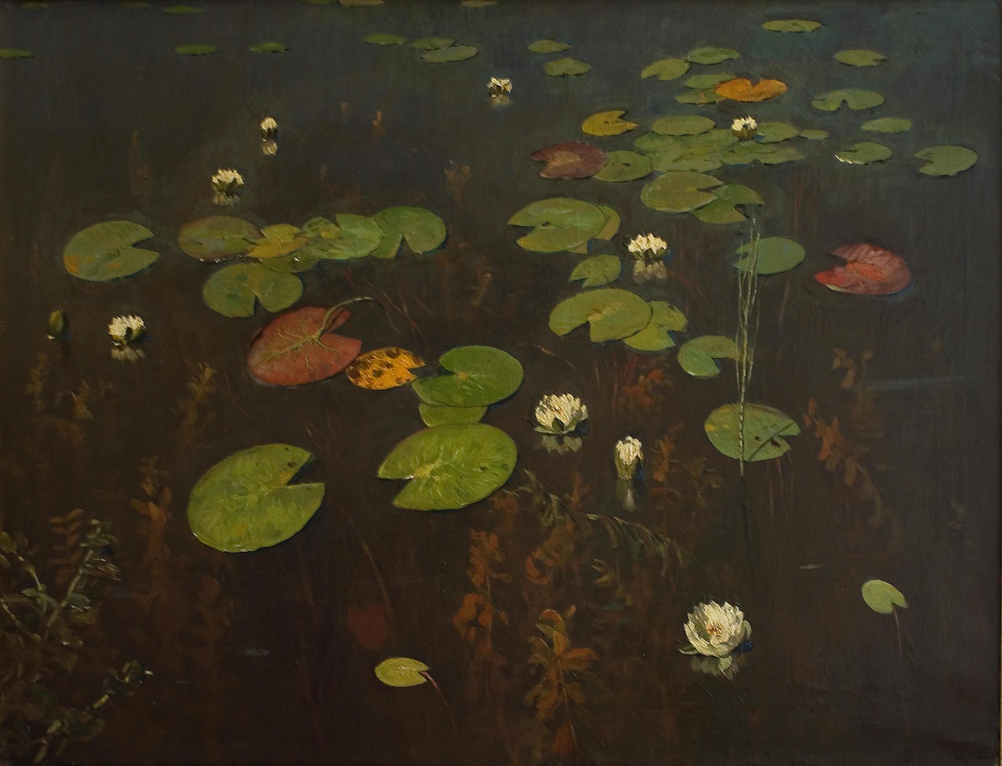 Исаак Левитан. «Ненюфары», 1890. Холст, масло, 95 х 128 см.Астраханская картинная галерея имени Догадина.