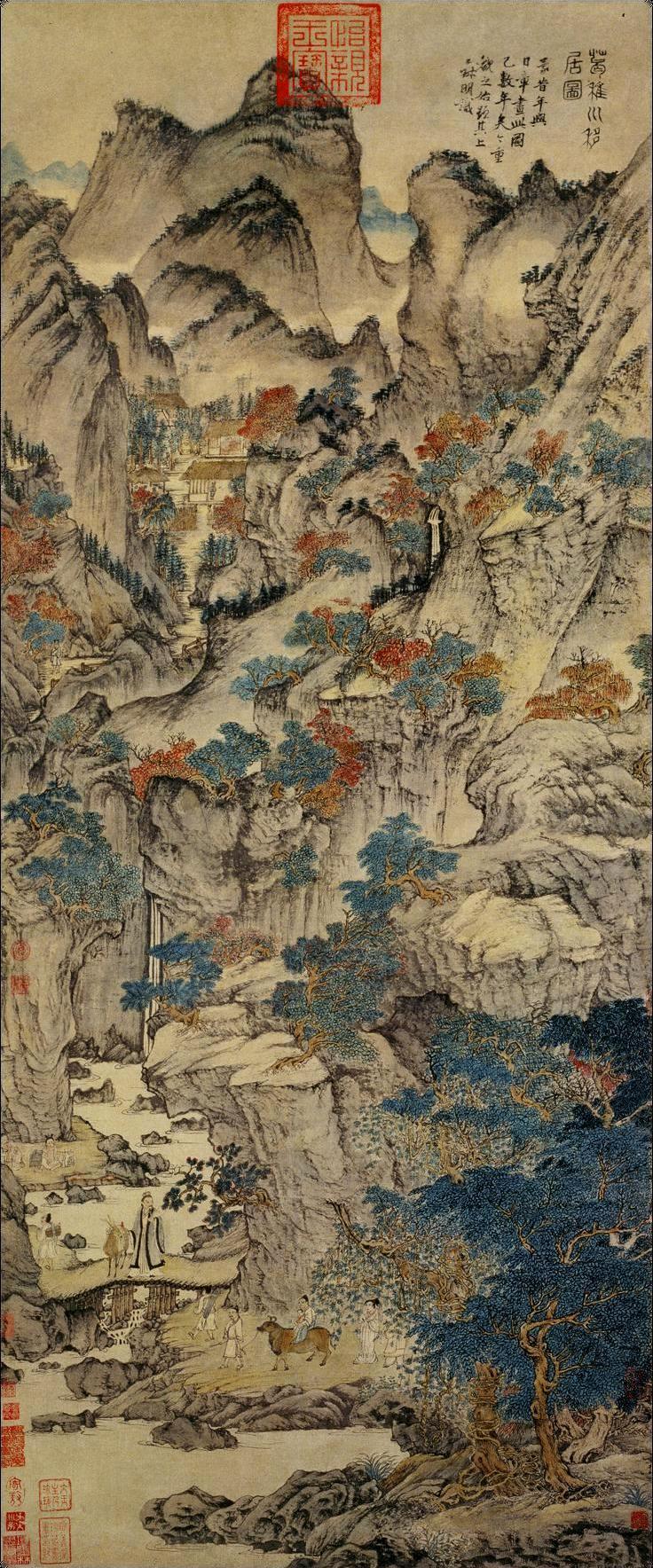 Wang_Meng._Ge_Zhichuan_Moving_his_Dwelling._ca._1360s_139x58cm_Palace_Museum_Beijing1