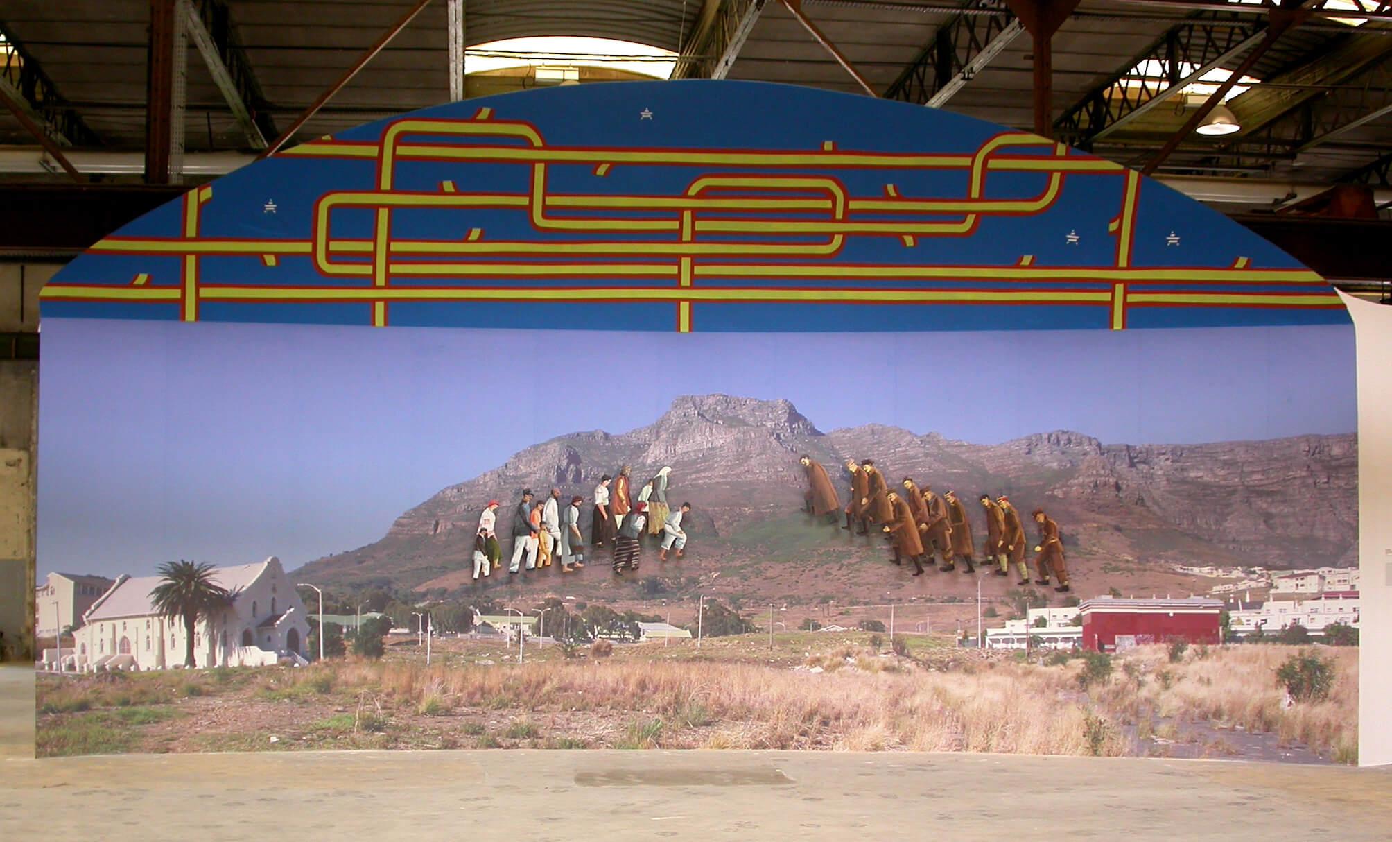 «Жертвы Катыни и жертвы Хатыни встречаются в пыльных холмах в пригороде Кейптауна», 2005
