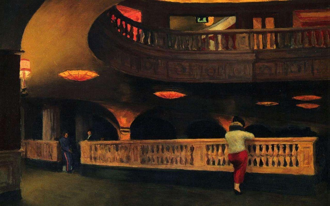 Эдвард Хоппер «Театр Шеридан», 1937