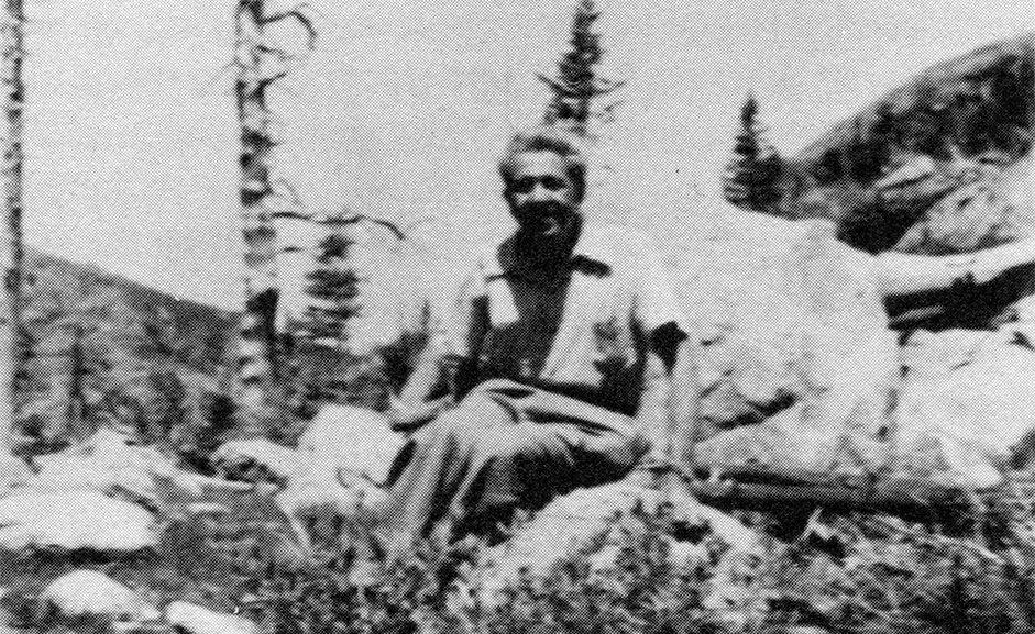 Альфред Шюц на пешей прогулке в Скалистых горах (Эстес-Парк, штат Колорадо, 1950)