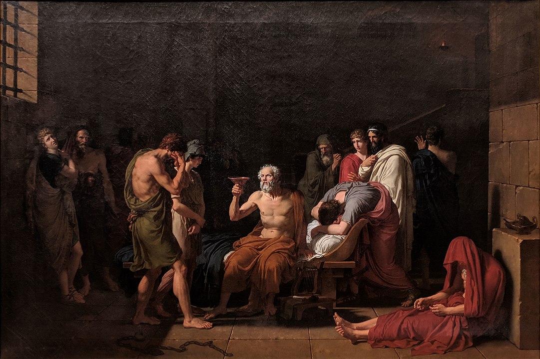 Смерть Сократа, картина 1787 г., художник Луи Давид