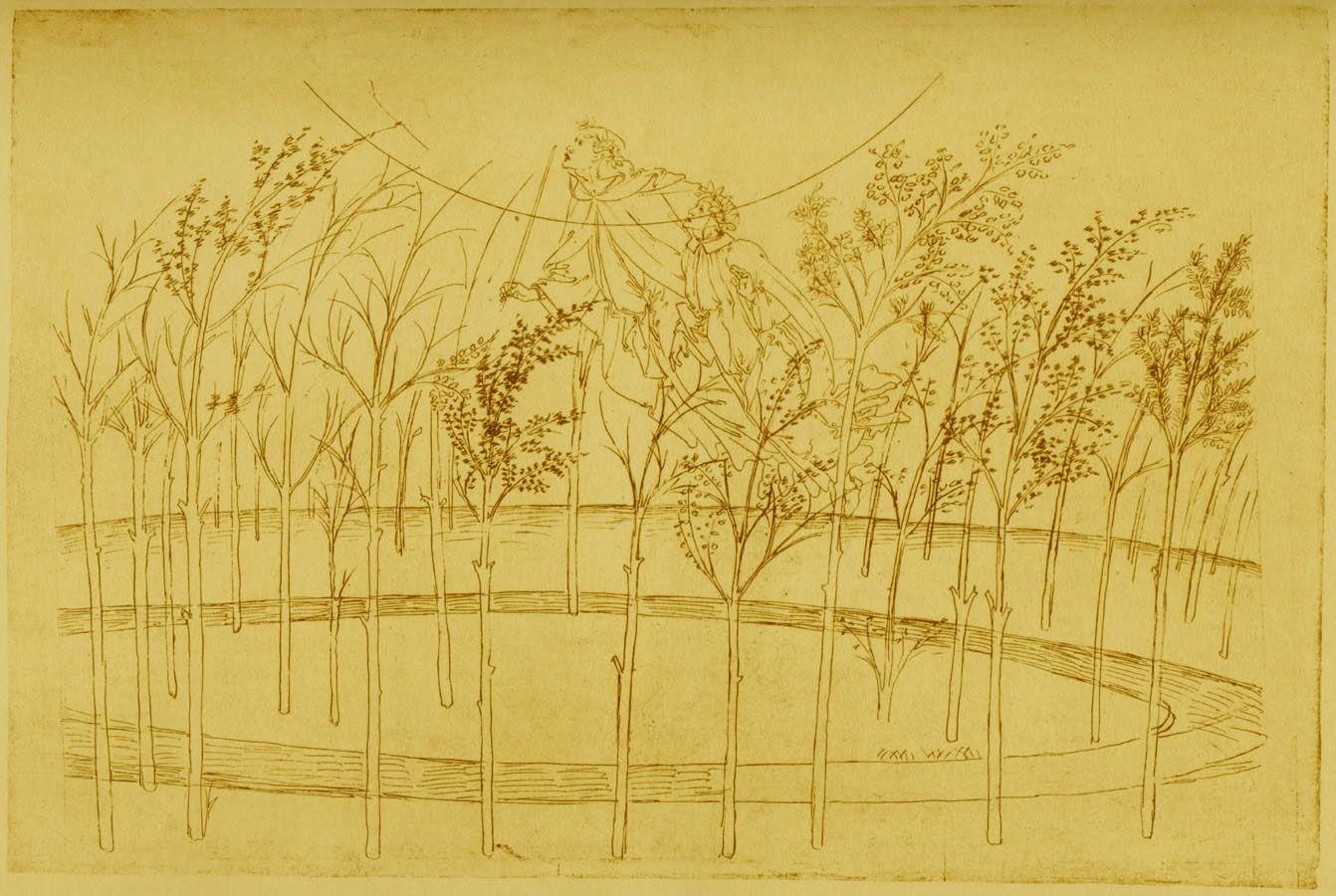 Sandro Botticelli - A Divine Comedy Drawing