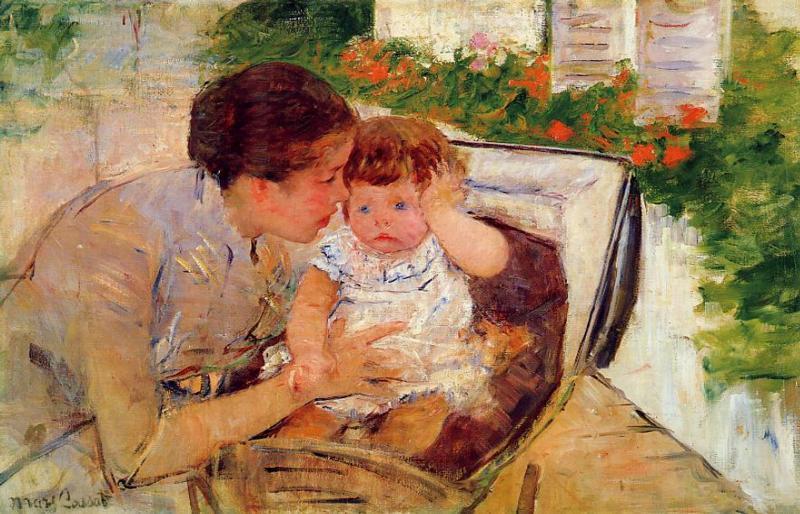 Мэри Кассат. Сьюзан утешает ребенка (№2), 1881