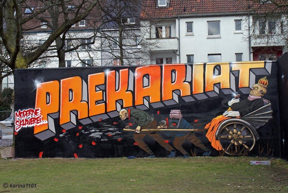 Прекариат. Фото граффити в Дортмунде, Инненштадт-Норд