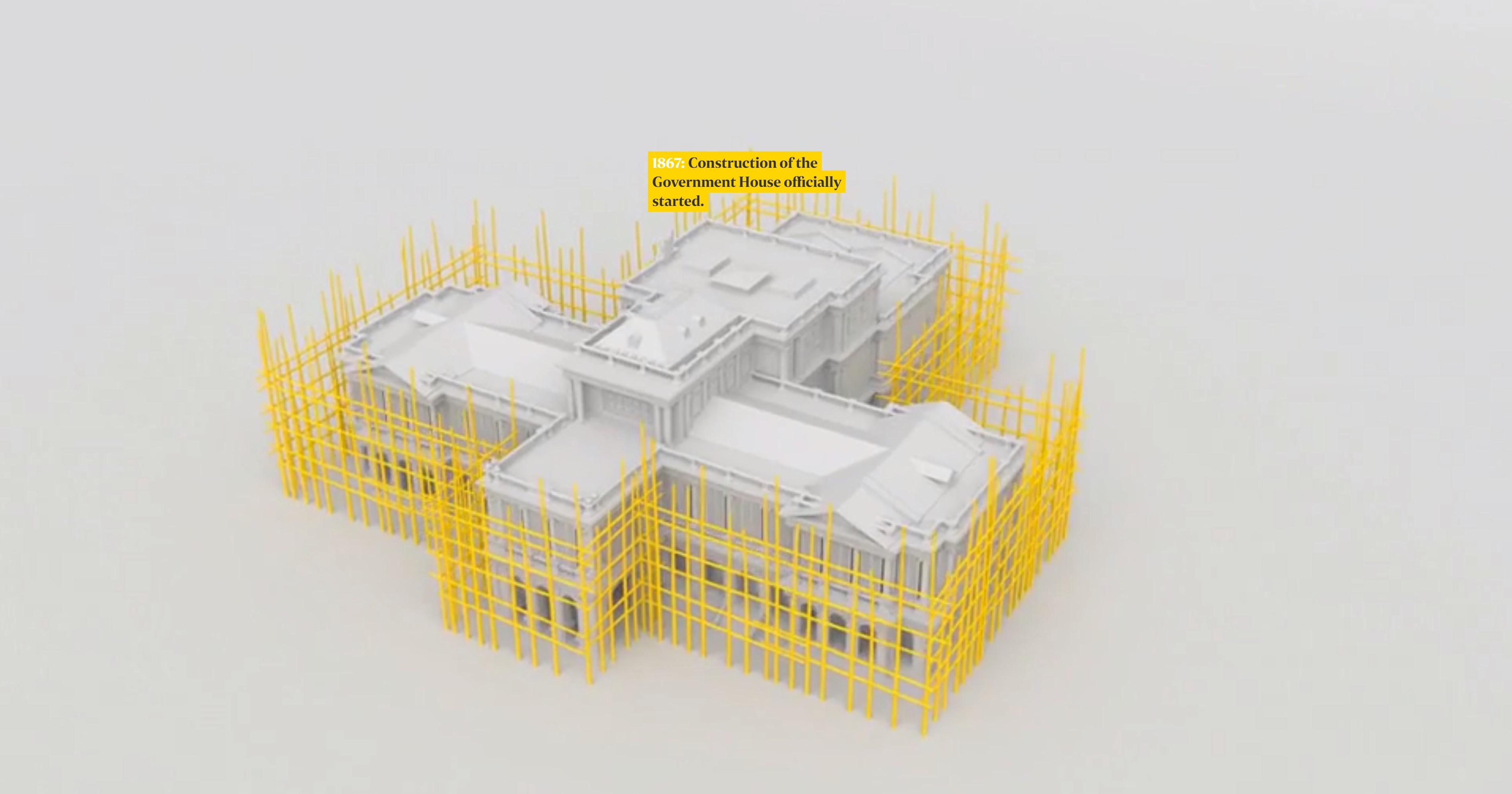 """Элементы 3D-графики в мультимедийном проекте """"Inside the Istana"""". Скриншот страницы проекта"""