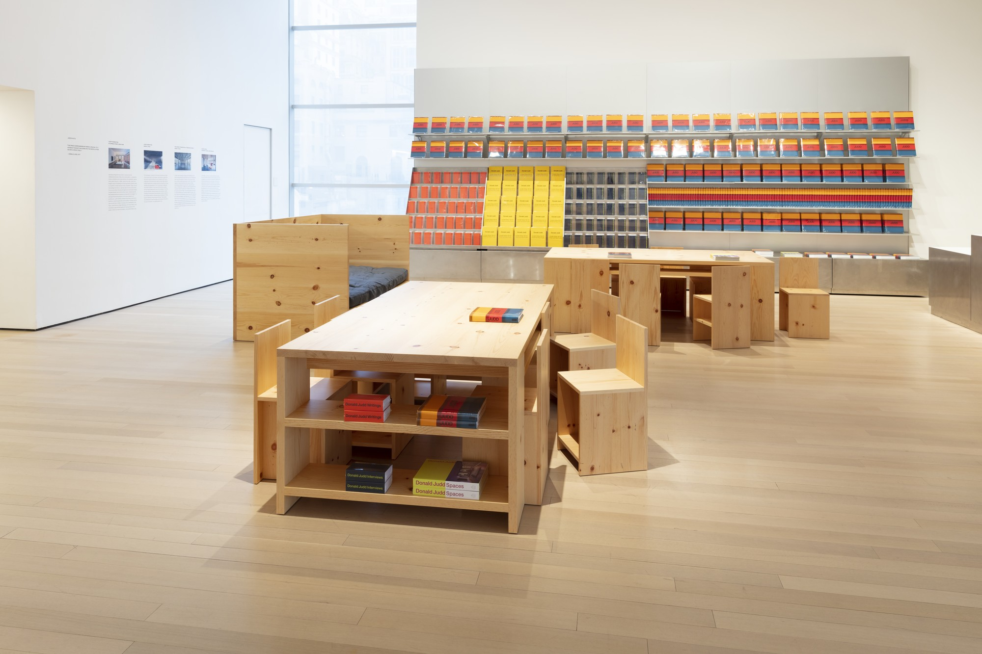 Installation view of the exhibition Judd (March 1st, 2020 — July 11th, 2020) | MoMA