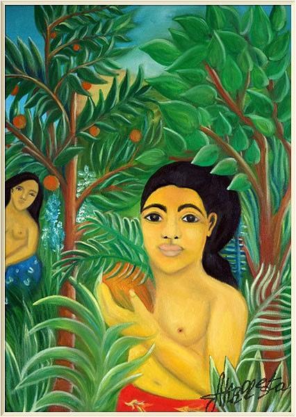 Девушки Поля Гогена в садах Анри Руссо. (Акролеста. Цикл ДжазАрт,2018)