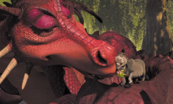 Дракониха - идеальная спутница жизни для Осла © DreamWorks