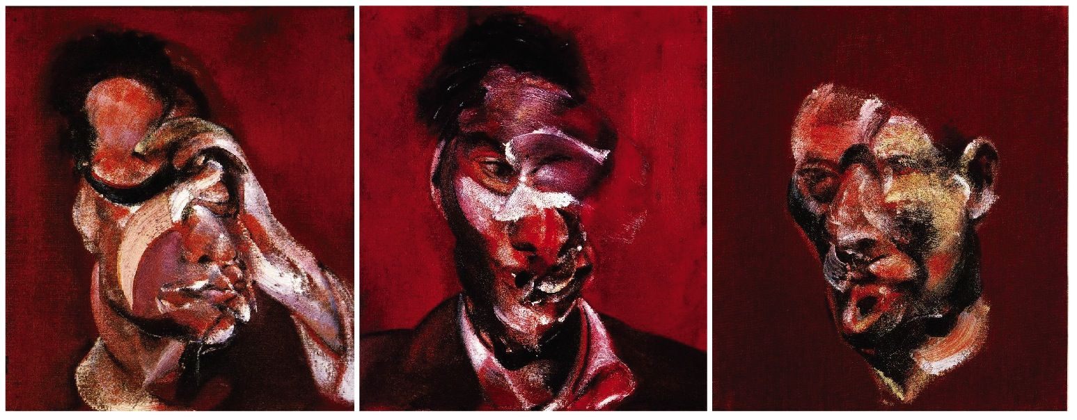 three studies for portrait of lucian freud by francis bacon