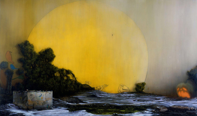 Nigel Cooke, Morning is Broken, oil on canvas, 370x220 cm, 2005.