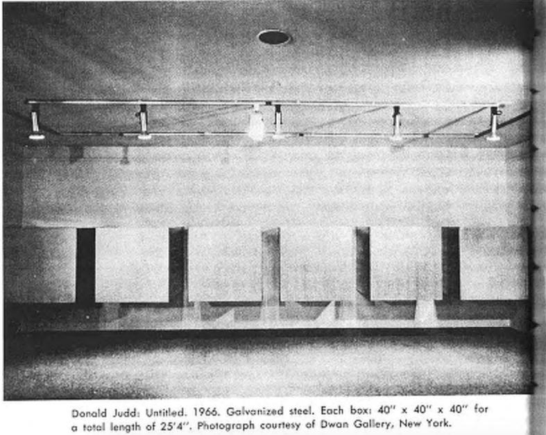 Дональд Джадд. Без названия. 1966. Гальванизированная сталь.